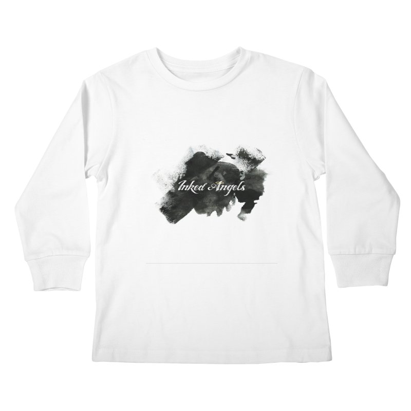 Inked Angels Black Paint Kids Longsleeve T-Shirt by Inked Angels' Store