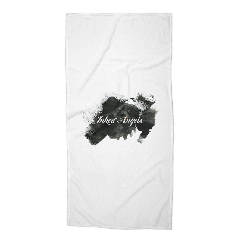 Inked Angels Black Paint Accessories Beach Towel by Inked Angels' Store
