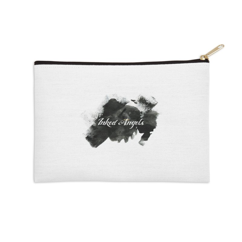 Inked Angels Black Paint Accessories Zip Pouch by Inked Angels' Store
