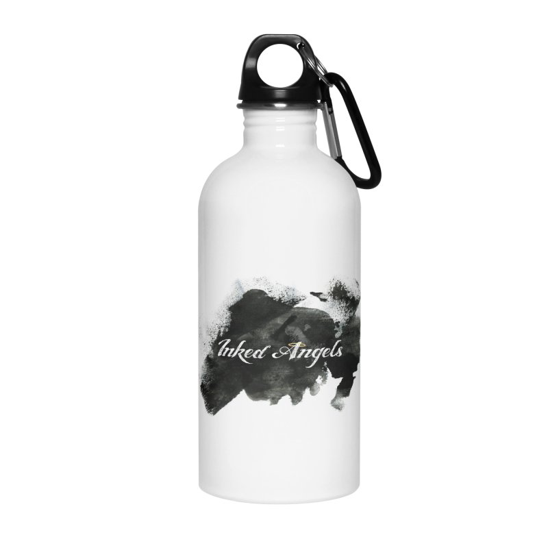 Inked Angels Black Paint Accessories Water Bottle by Inked Angels' Store