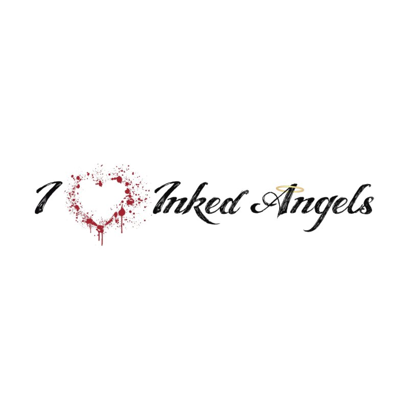 I love Inked Angels White Women's V-Neck by Inked Angels' Store