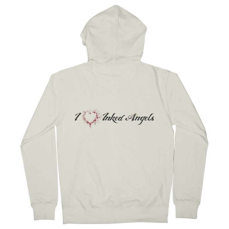 I love Inked Angels White Men's French Terry Zip-Up Hoody by Inked Angels' Store