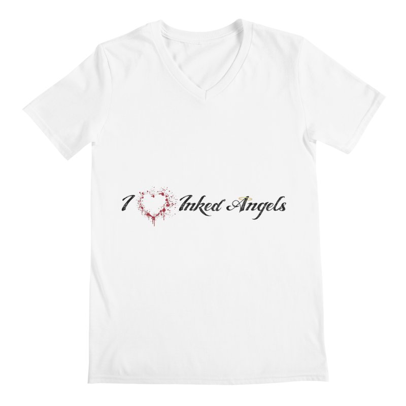 I love Inked Angels White Men's V-Neck by Inked Angels' Store
