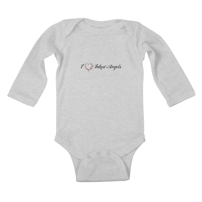 I love Inked Angels White Kids Baby Longsleeve Bodysuit by Inked Angels' Store