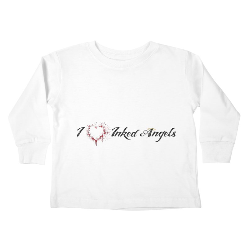 I love Inked Angels White Kids Toddler Longsleeve T-Shirt by Inked Angels' Store