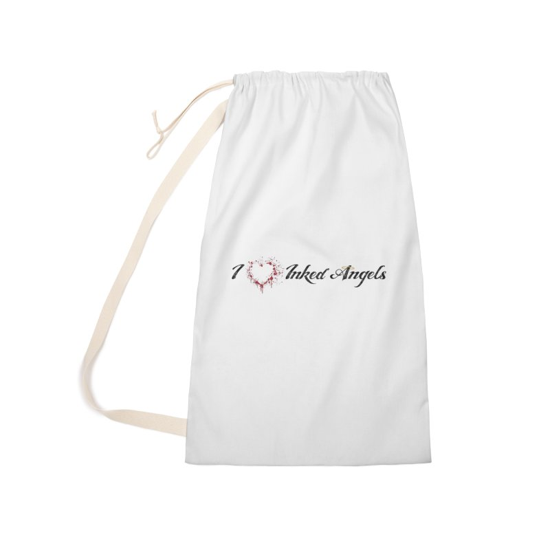 I love Inked Angels White Accessories Laundry Bag Bag by Inked Angels' Store