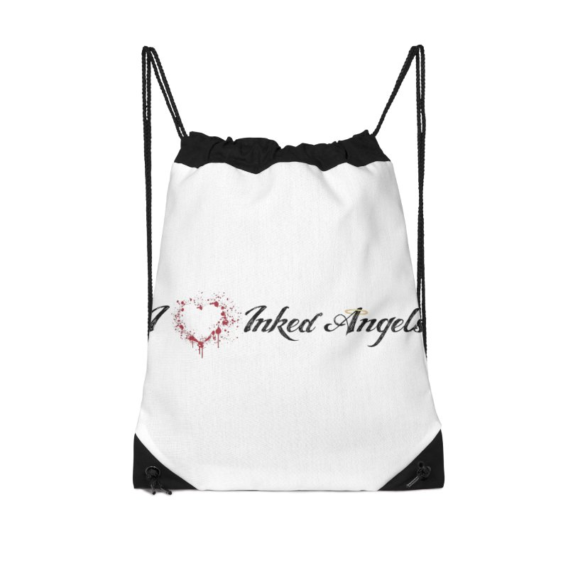 I love Inked Angels White Accessories Drawstring Bag Bag by Inked Angels' Store