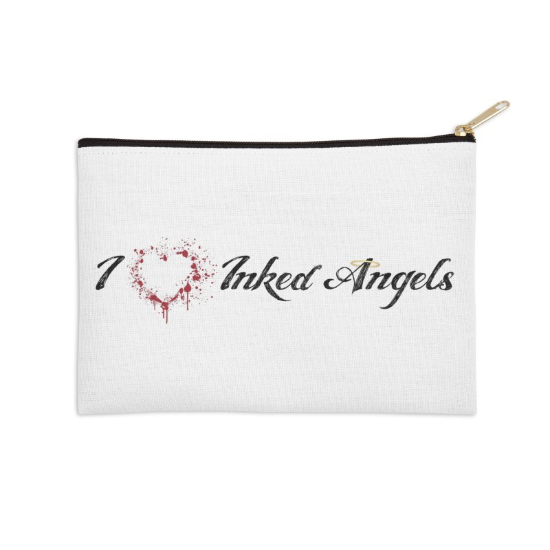 I love Inked Angels White Accessories Zip Pouch by Inked Angels' Store