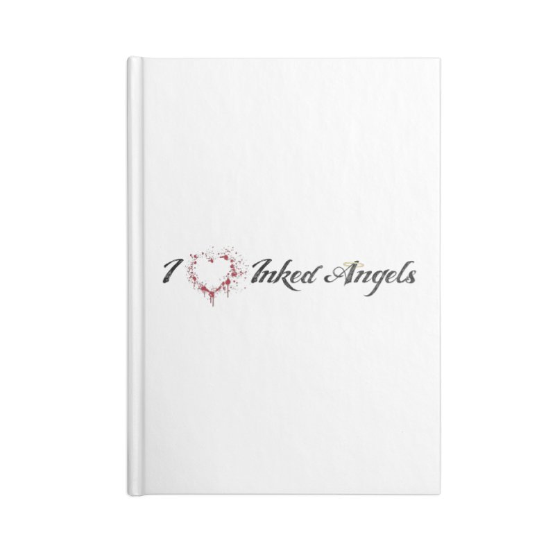 I love Inked Angels White Accessories Lined Journal Notebook by Inked Angels' Store