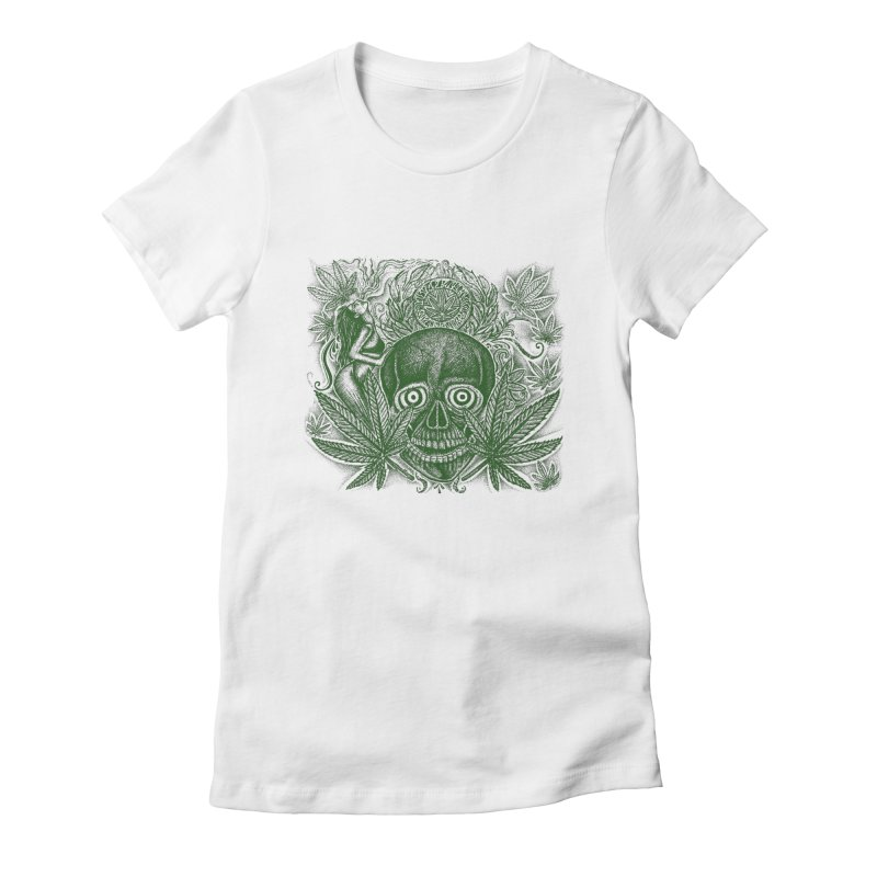 pot-head Women's Fitted T-Shirt by inkeyc's Shop