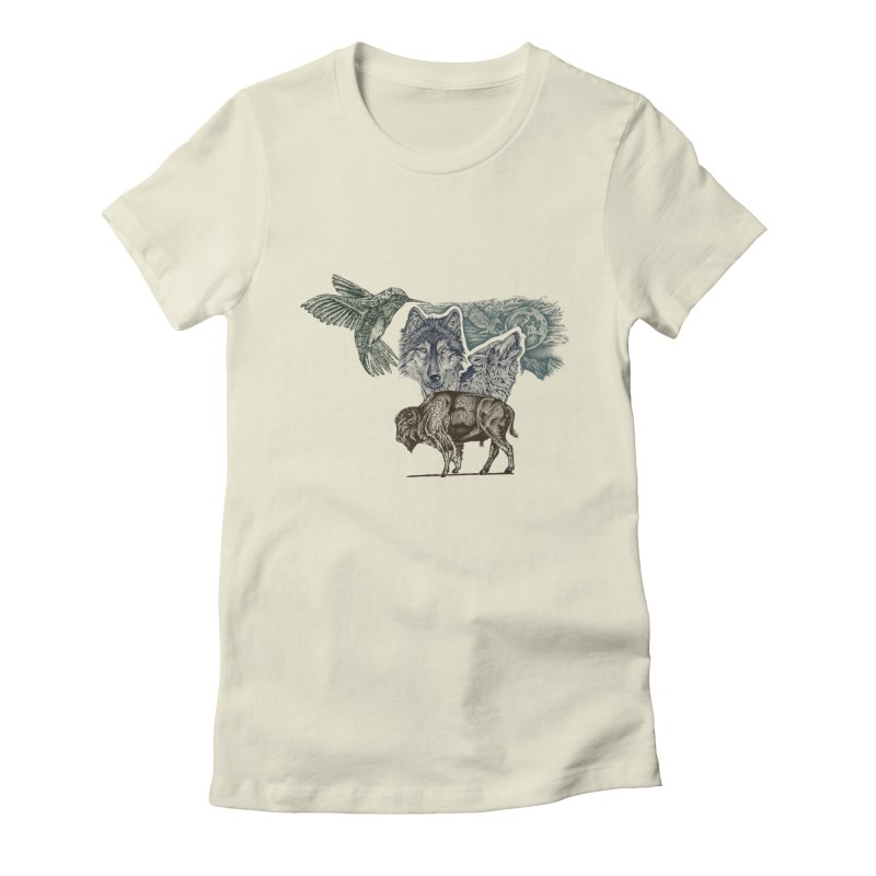 animal Women's Fitted T-Shirt by inkeyc's Shop