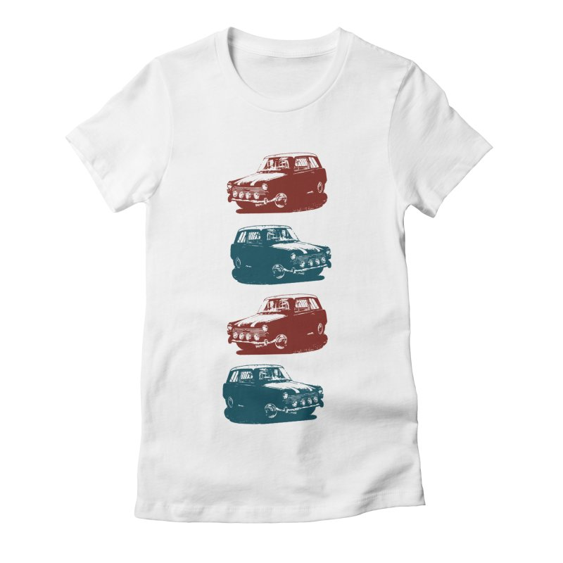 PARKED Women's Fitted T-Shirt by inkgorilla's Artist Shop