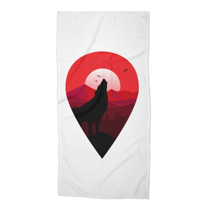 Wolfhill Accessories Beach Towel by inkhip's Artist Shop