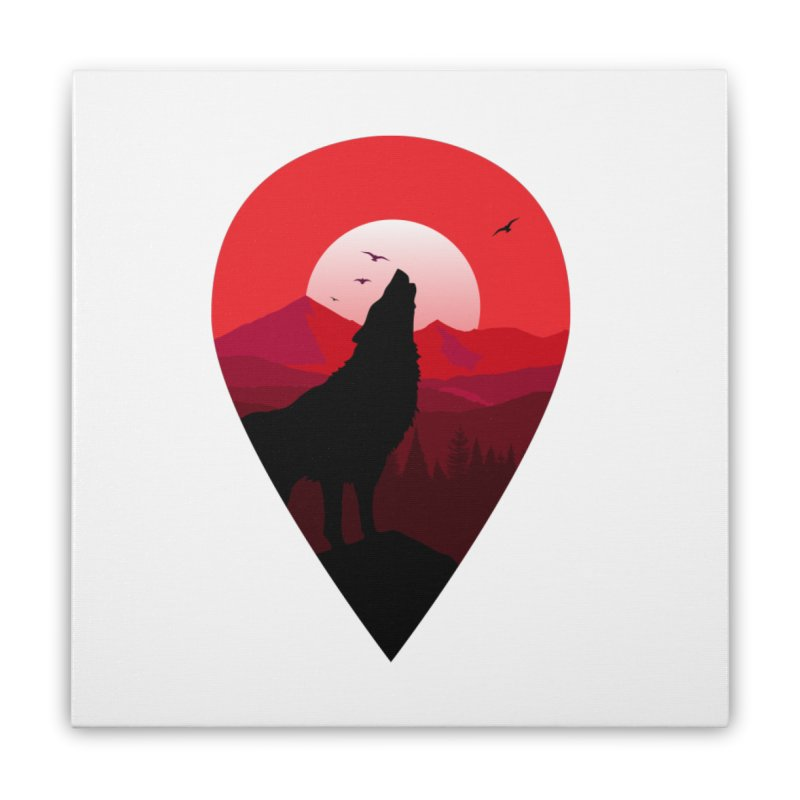 Wolfhill Home Stretched Canvas by inkhip's Artist Shop