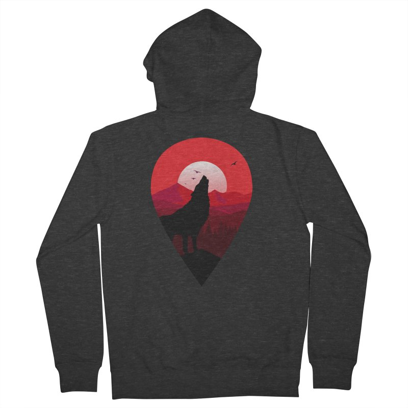 Wolfhill Men's French Terry Zip-Up Hoody by inkhip's Artist Shop