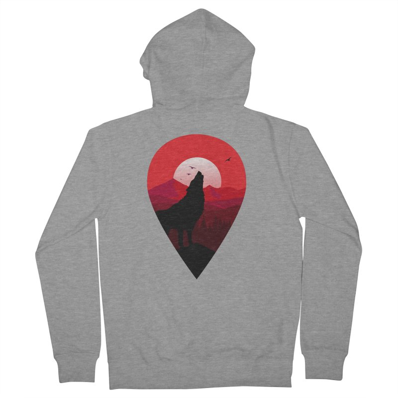 Wolfhill Men's Zip-Up Hoody by inkhip's Artist Shop