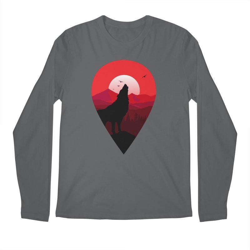 Wolfhill Men's Regular Longsleeve T-Shirt by inkhip's Artist Shop