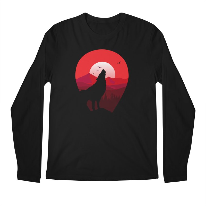 Wolfhill Men's Regular Longsleeve T-Shirt by inkhip's Artist Shop