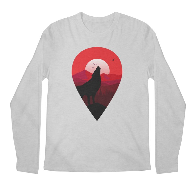 Wolfhill Men's Longsleeve T-Shirt by inkhip's Artist Shop