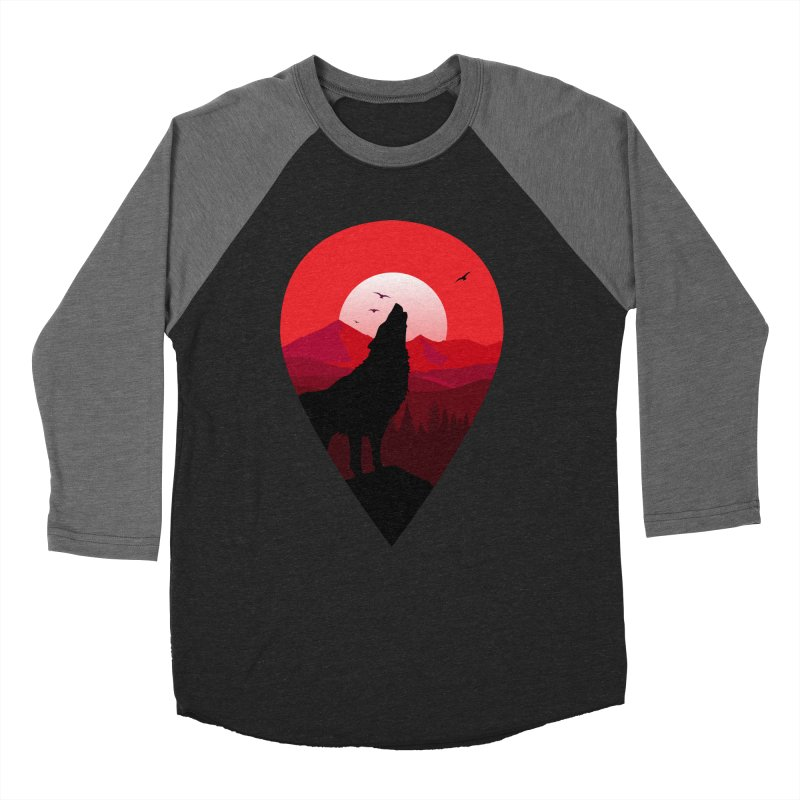 Wolfhill Men's Baseball Triblend Longsleeve T-Shirt by inkhip's Artist Shop