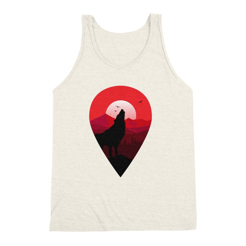 Wolfhill Men's Triblend Tank by inkhip's Artist Shop