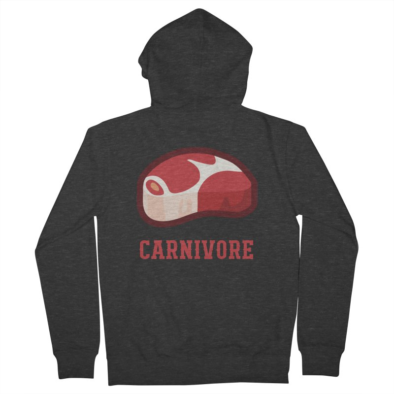Carnivore Men's French Terry Zip-Up Hoody by inkhip's Artist Shop