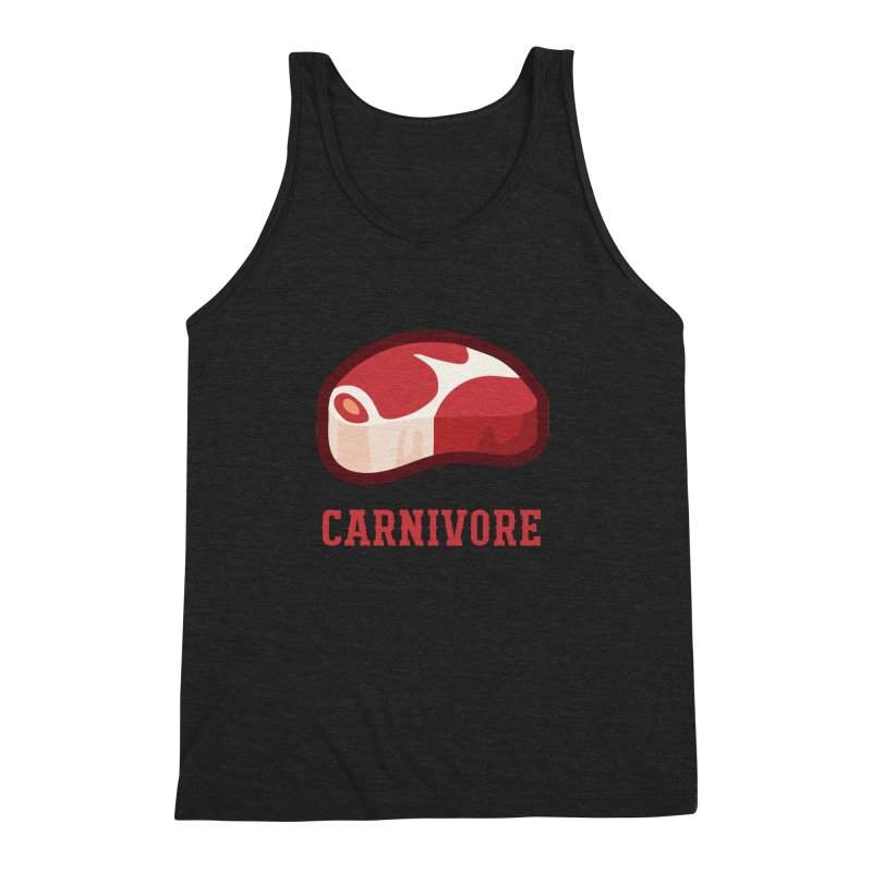Carnivore Men's Triblend Tank by inkhip's Artist Shop