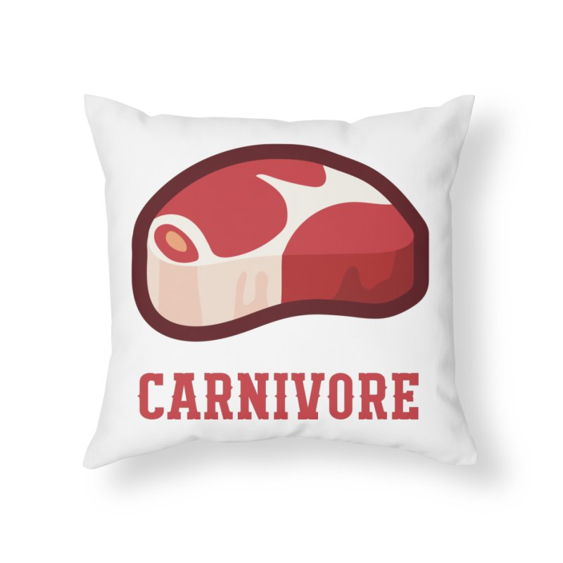 Carnivore Home Throw Pillow by inkhip's Artist Shop