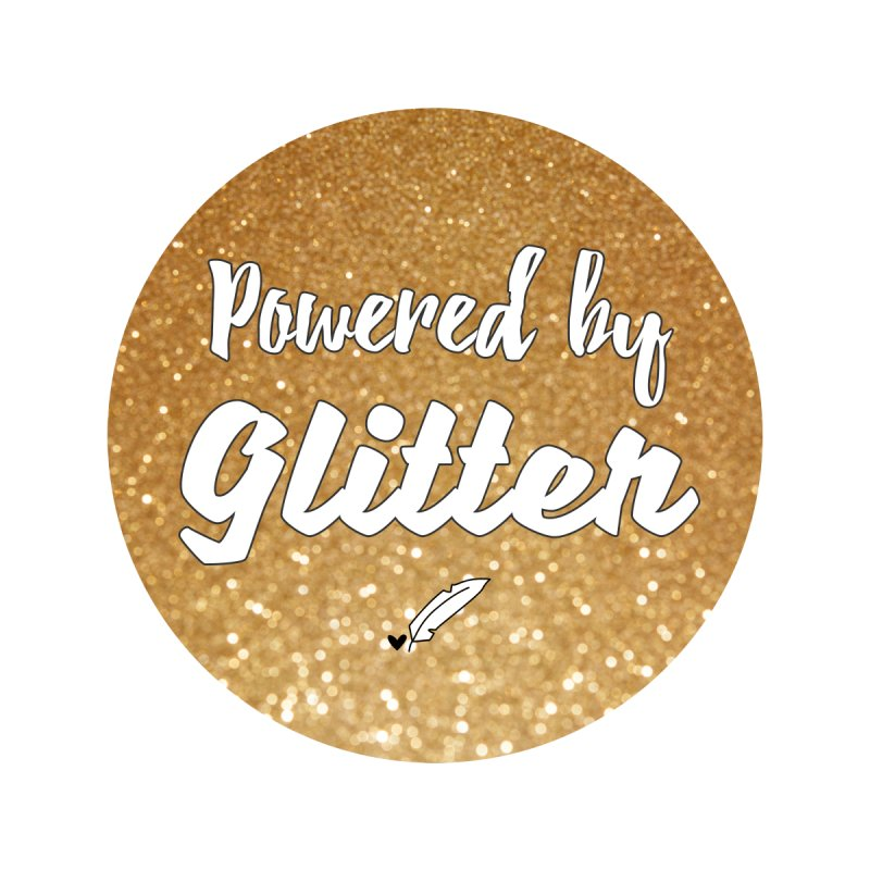 Powered by Glitter Home Stretched Canvas by Inkie Quill Shop