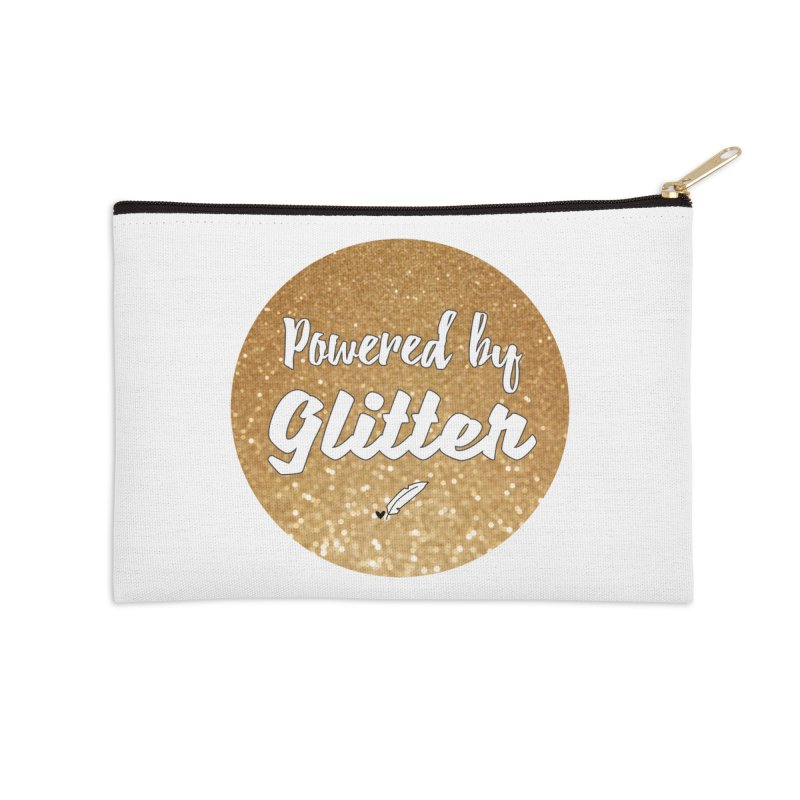 Powered by Glitter Accessories Zip Pouch by Inkie Quill Shop