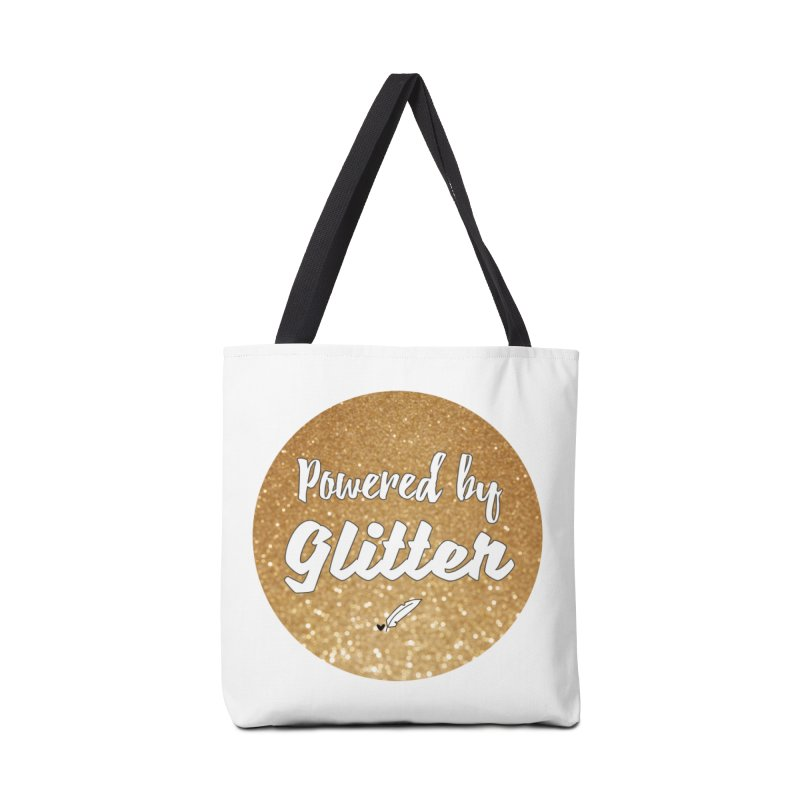 Powered by Glitter Accessories Tote Bag Bag by Inkie Quill Shop