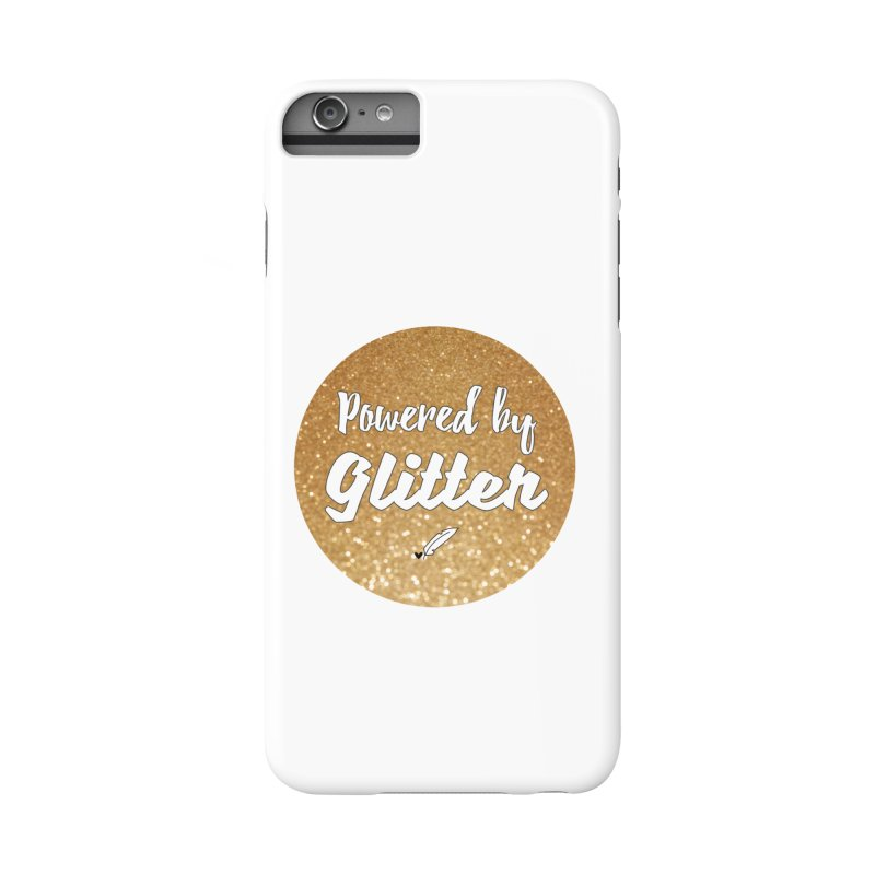Powered by Glitter Accessories Phone Case by Inkie Quill Shop