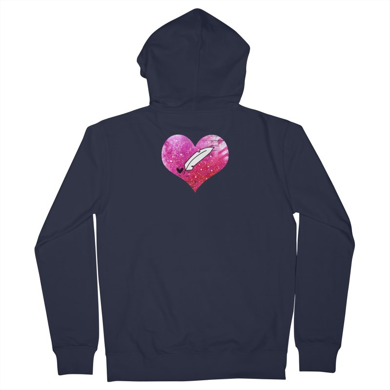 I Heart Inkie - Pink Women's Zip-Up Hoody by Inkie Quill Shop