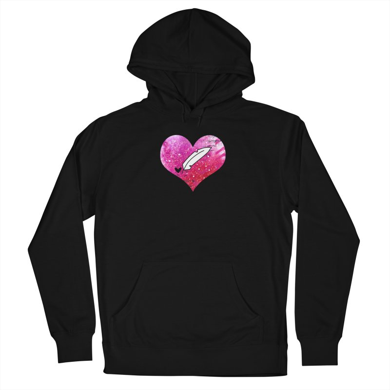 I Heart Inkie - Pink Women's French Terry Pullover Hoody by Inkie Quill Shop