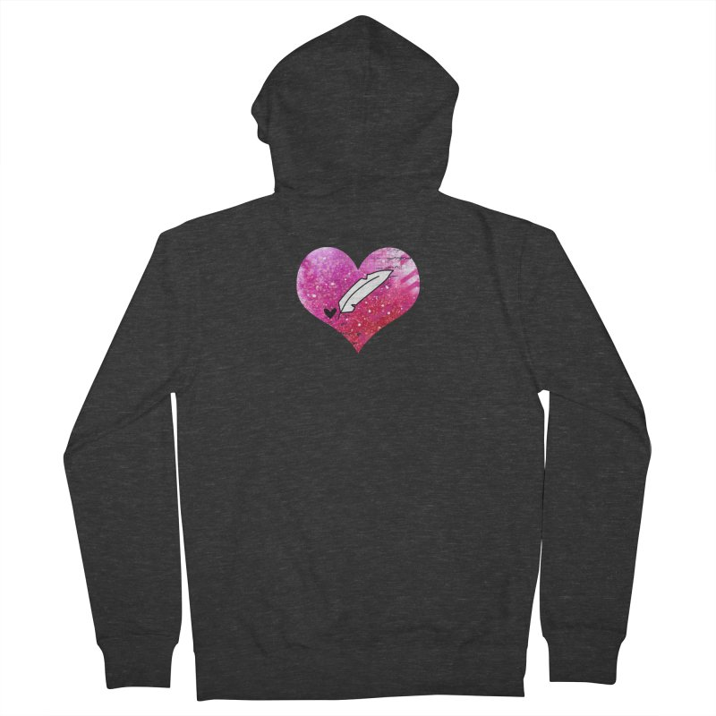 I Heart Inkie - Pink Women's French Terry Zip-Up Hoody by Inkie Quill Shop