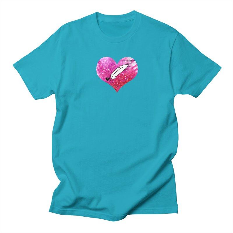 I Heart Inkie - Pink Women's Regular Unisex T-Shirt by Inkie Quill Shop