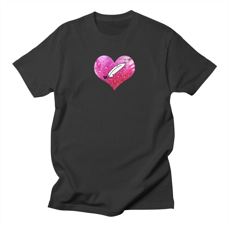 I Heart Inkie - Pink Women's Regular Unisex T-Shirt by Inkie Quill Shop