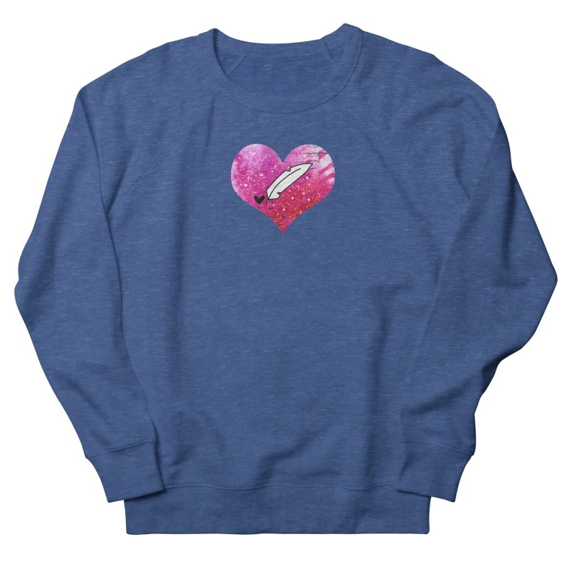I Heart Inkie - Pink Women's French Terry Sweatshirt by Inkie Quill Shop