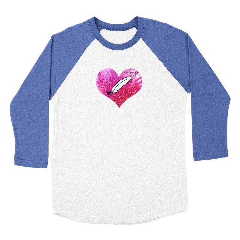 I Heart Inkie - Pink Women's Baseball Triblend Longsleeve T-Shirt by Inkie Quill Shop
