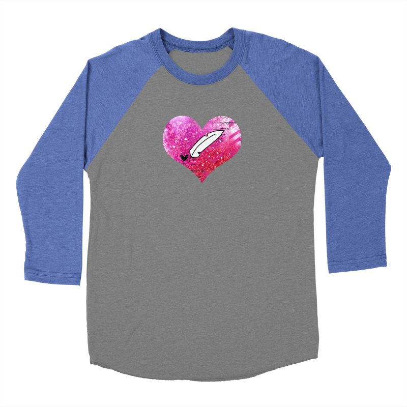 I Heart Inkie - Pink Women's Baseball Triblend Longsleeve T-Shirt by Inkie Quill Shop