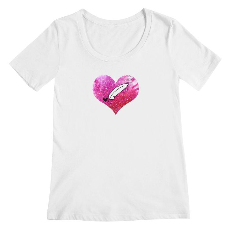 I Heart Inkie - Pink Women's Regular Scoop Neck by Inkie Quill Shop
