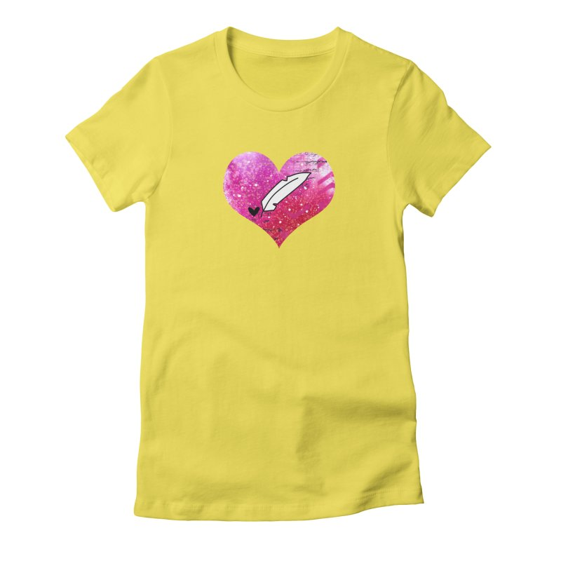 I Heart Inkie - Pink Women's T-Shirt by Inkie Quill Shop
