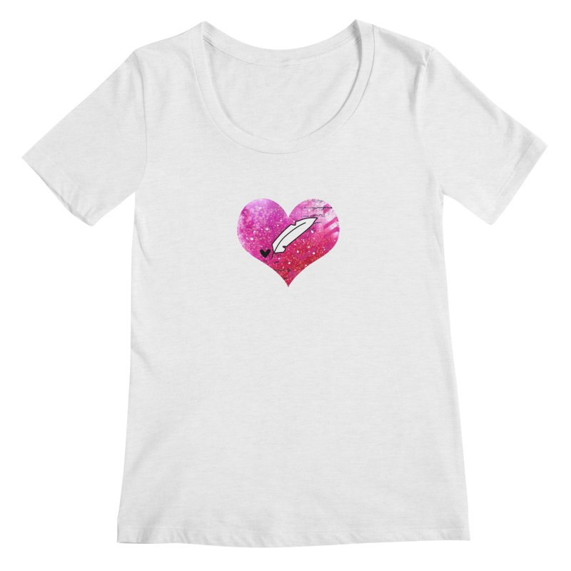 I Heart Inkie - Pink Women's Regular Scoop Neck by Inkie Quill Shop