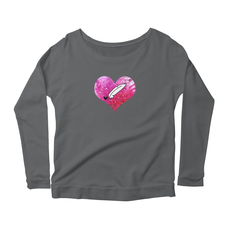 I Heart Inkie - Pink Women's Longsleeve T-Shirt by Inkie Quill Shop