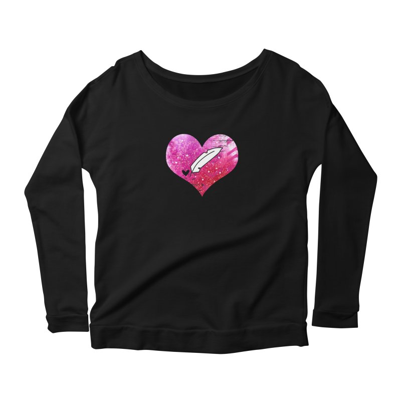 I Heart Inkie - Pink Women's Scoop Neck Longsleeve T-Shirt by Inkie Quill Shop