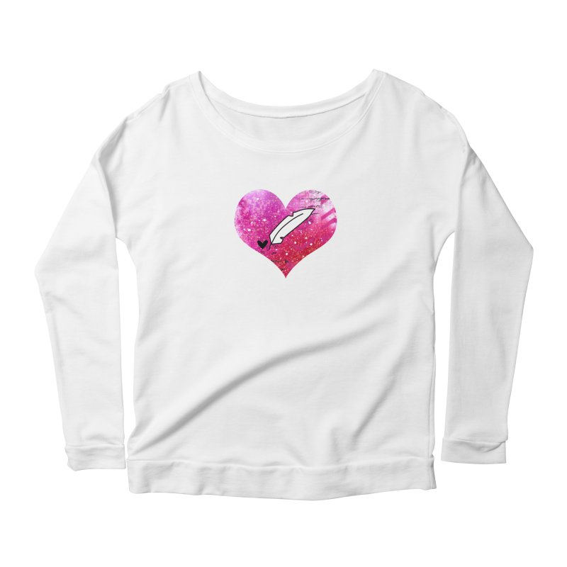 I Heart Inkie - Pink Women's Scoop Neck Longsleeve T-Shirt by Inkie Quill Shop