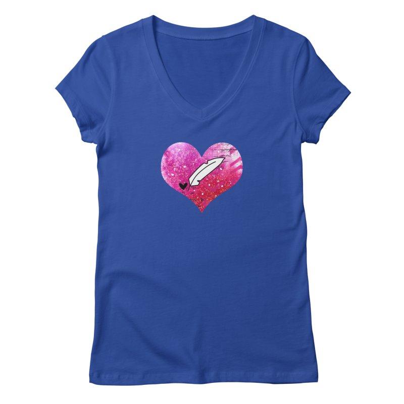 I Heart Inkie - Pink Women's Regular V-Neck by Inkie Quill Shop