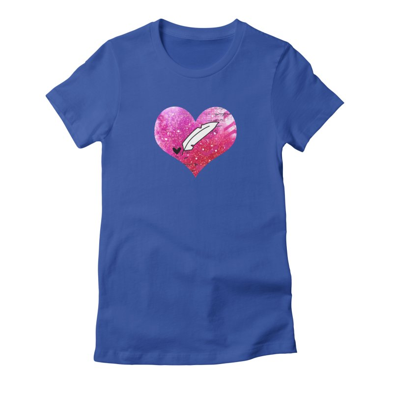 I Heart Inkie - Pink Women's Fitted T-Shirt by Inkie Quill Shop