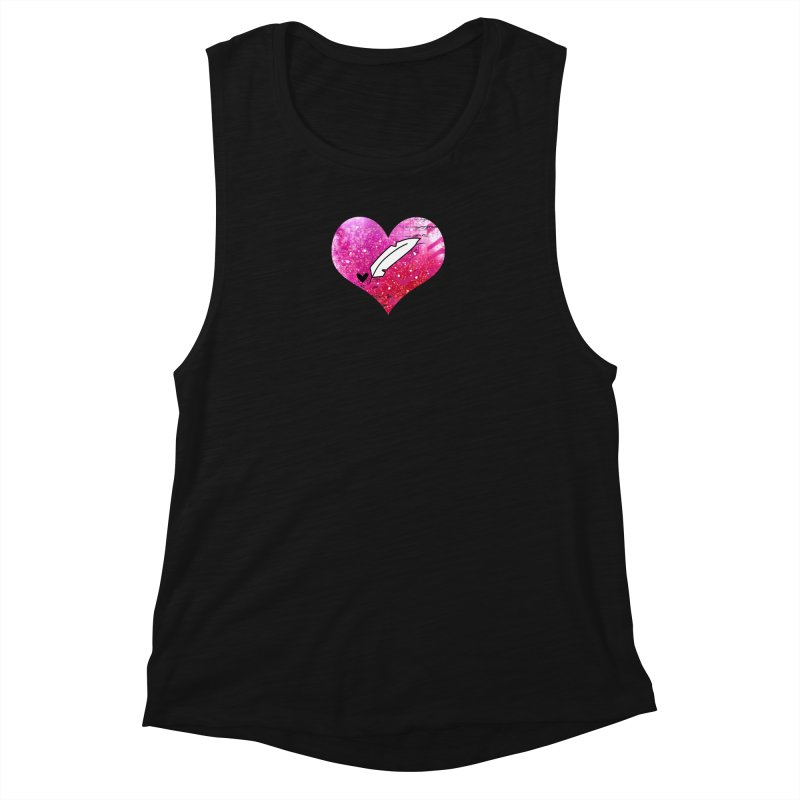 I Heart Inkie - Pink Women's Muscle Tank by Inkie Quill Shop