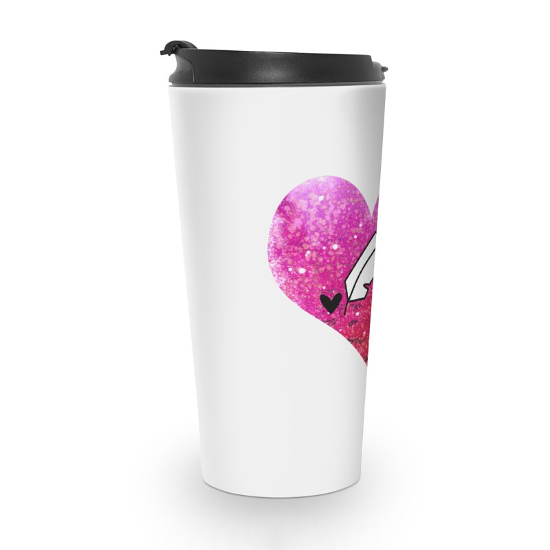 I Heart Inkie - Pink Accessories Travel Mug by Inkie Quill Shop